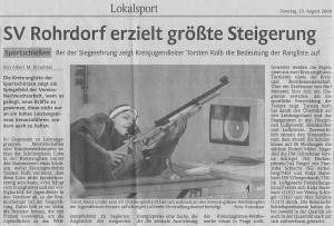 SV Rohrdorf erzeilt größte Steigerung