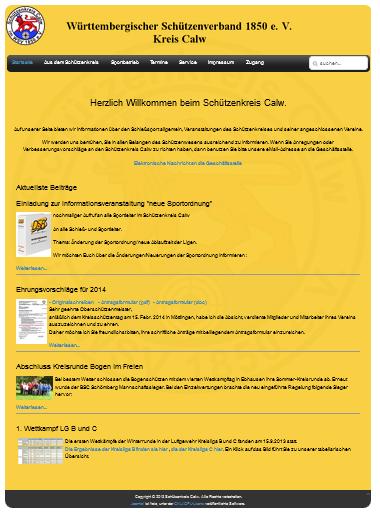 Neue Website schuetzenkreis-calw.de